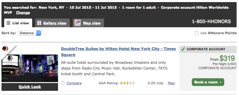 DoubleTree Suites by Hilton Hotel New York City - Times Square MVP price